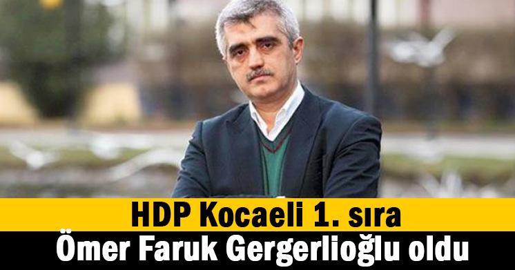 HDP 1. sıra belli oldu