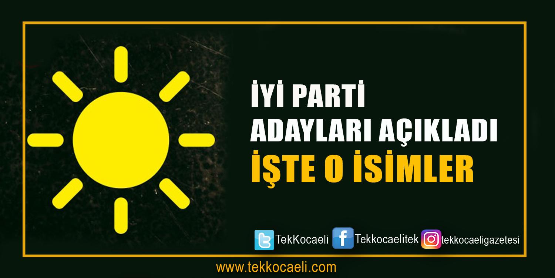 İYİ Parti Belediye Başkan Adaylarını Açıkladı