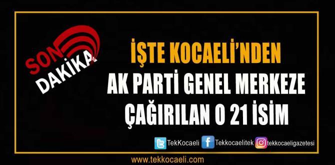 21 isim Ankara'ya çağrıldı