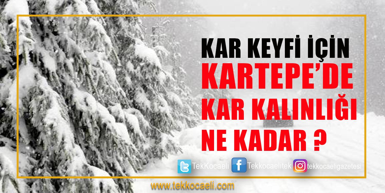 Kartepe'de Kar Keyfi