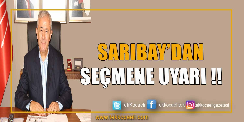 Sarıbay'dan Seçmen Listeleri Hakkında Önemli Uyarı