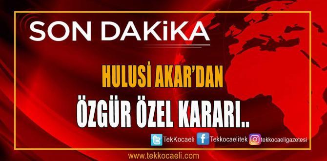 Hulusi Akar'dan Özgür Özel'e suç duyurusu!