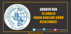 SHUDER'den İnsan Hakları Günü Bildirisi
