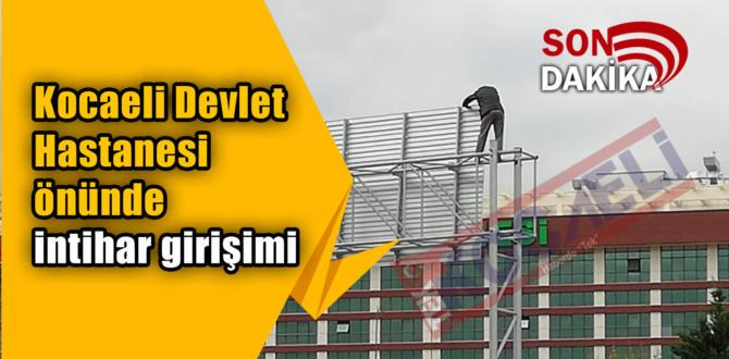 Kocaeli Devlet Hastanesi önünde intihar girişimi