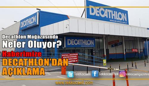 Decathlon Mağazasından Açıklama
