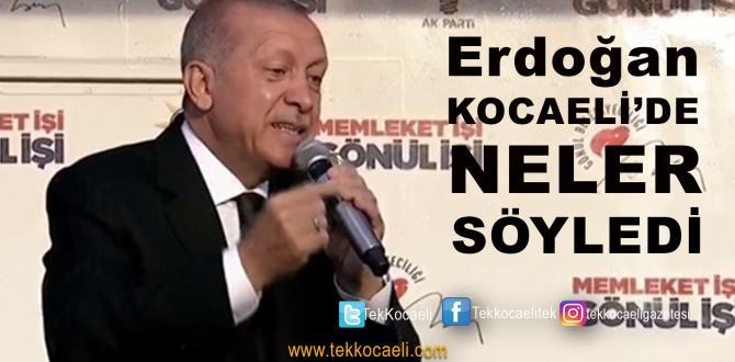 Erdoğan Kocaeli Mitinginde Konuştu