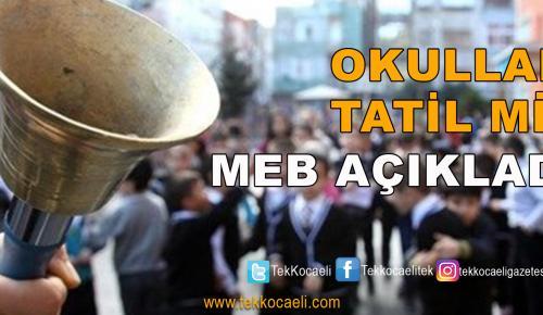 1 Nisan'da Okullar Tatil mi?