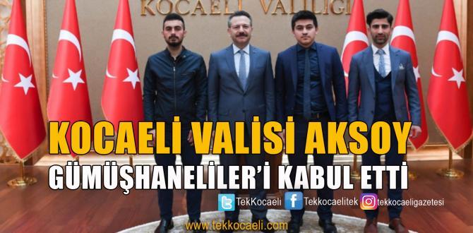 Gümüşhaneliler Vakfı Gençlik Kolları'ndan Vali Aksoy'a Ziyaret