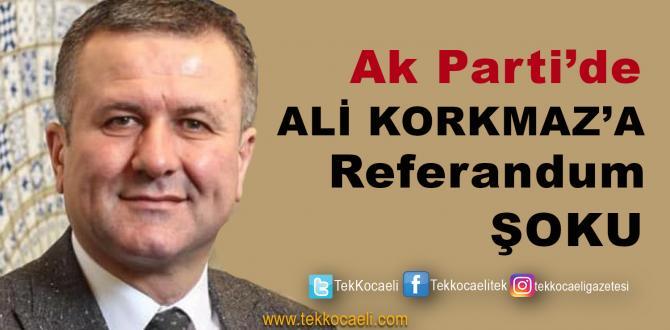 Ak Parti'de Ali Korkmaz'a Şok