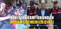 Kamyonetin Kasasından 35 Kaçak Göçmen Çıktı