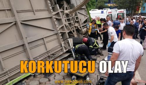 Halk Otobüsü Devrildi; Yaralılar Var