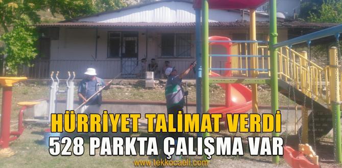 İzmit'te Parklar Pırıl Pırıl