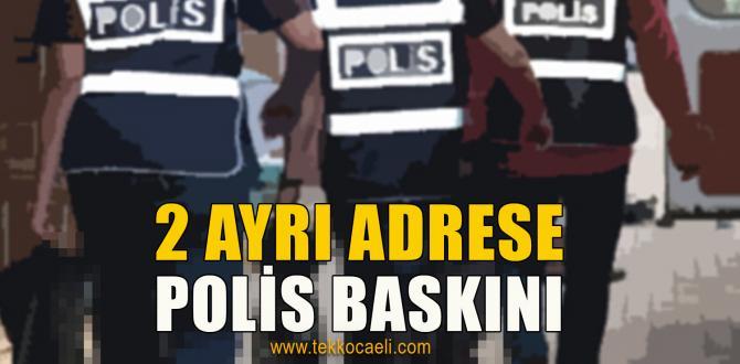 Başiskele'de Polis Baskını