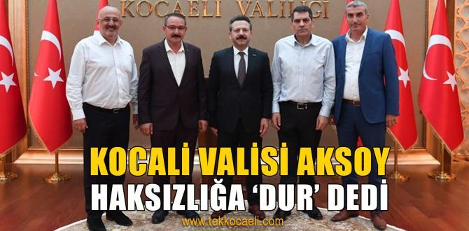 Kocaeli Valisi Aksoy'dan, Kandıra OSB Talimatı
