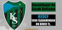 Kocaelispor'a Destek İçin Gece Düzenlenecek