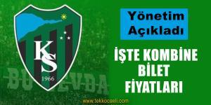 Kocaelispor'da Bilet Fiyatları Açıklandı