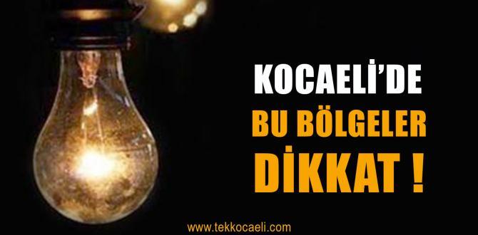 Kocaeli'de Elektrikler Kesilecek