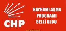CHP'de İlçe İlçe Bayramlaşma Programı