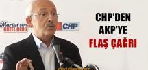 CHP'den AKP'ye Çağrı; Getirin Destek Verelim