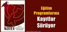 KOTEV Ağustos Ayı Eğitim Programlarına Kayıtlar Sürüyor