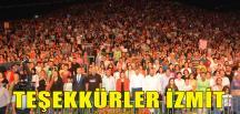 Başkan Hürriyet, İzmit Halkına Teşekkür Etti