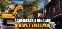 Depremde Ağır Hasar Almış Binalar Yıllar Sonra Yıkılıyor