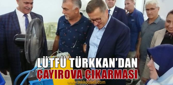 Lütfü Türkkan'dan Çayırova'da Ziyaretler