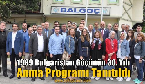 '1989 Bulgaristan Göçünün 30.Yılı' Anma Programı Tanıtıldı