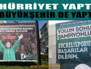 Kocaeli Büyükşehir, Başkan Hürriyet'i Takip Ediyor