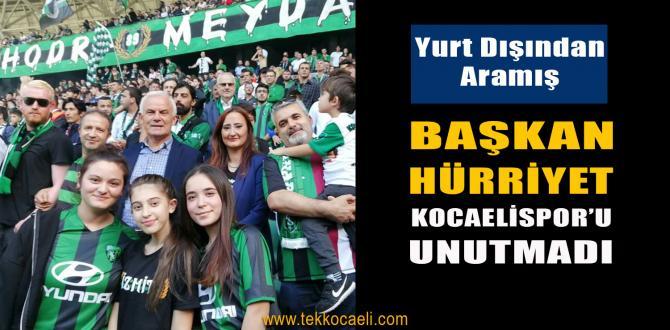 Yurt Dışında Olmasına Rağmen Kocaelispor'u Unutmadı