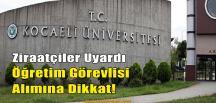 Kocaeli Üniversitesi'ne Hem Teşekkür Hem Uyarı