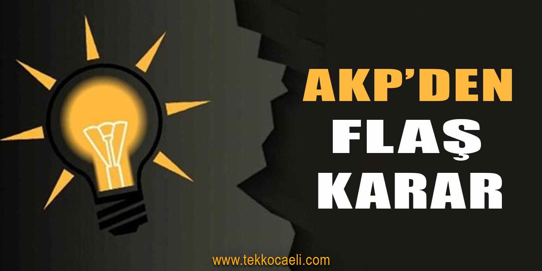 AKP'de Sürpriz Karar