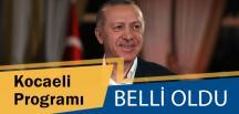 Cumhurbaşkanı Erdoğan'ın Programı Netleşti