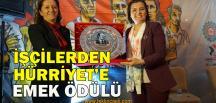 Başkan Hürriyet, Emek Ödülüne Layık Görüldü