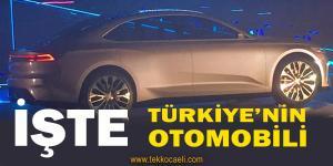 İşte Türkiye'nin Otomobili