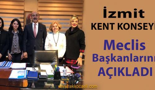 İzmit Kent Konseyi, Meclis Başkanlarını Belirledi