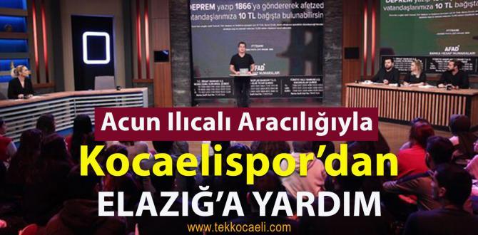 Kocaelispor, Cizrespor Maçının Hasılatını Elazığ'a Gönderdi