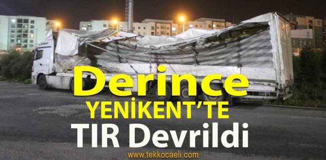 TIR Devrildi; TEM Trafiğe Kapandı