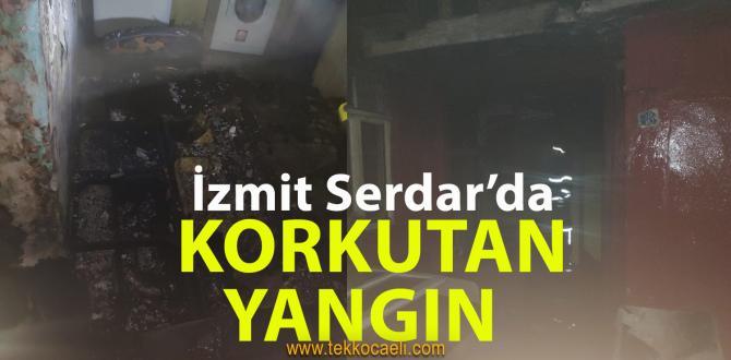İzmit Serdar'da Korkutan Yangın