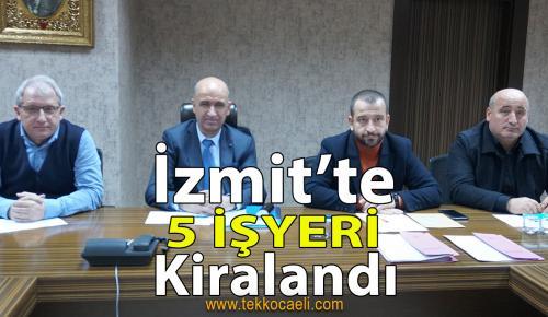 İzmit Belediyesi Encümen Toplantısı Gerçekleştirildi