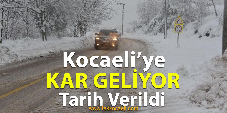 Kocaeli'ye Kar Yağışı Geliyor