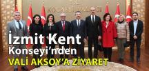 İzmit Kent Konseyi'nden, Kocaeli Valisi Aksoy'a Ziyaret