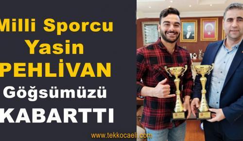 Milli Sporcu Yasin Pehlivan, Kandıra'nın Göğsünü Kabarttı
