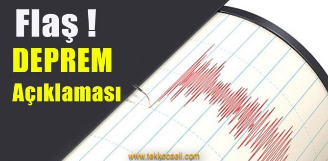 Deprem Açıklaması