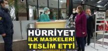 Hürriyet, Sağlık Çalışanlarına İlk Maskeleri Teslim Etti