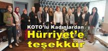 KOTO'lu Kadınlardan Hürriyet'e Teşekkür