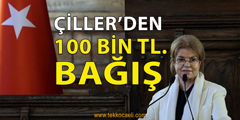 Tansu Çiller'den Bağış Kampanyasına Destek