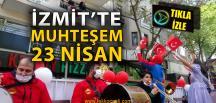 İzmitli Vatandaşlar 23 Nisan Coşkusuna Balkonlardan Ortak Oldu
