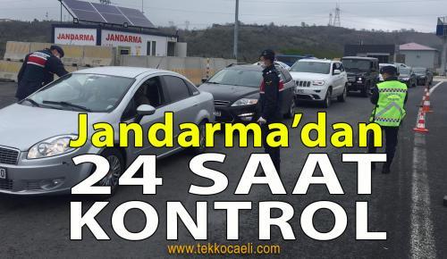 Jandarma Ekiplerinden 24 Saat Kontrol