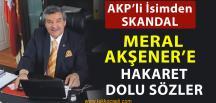 AKP'li İsimden Meral Akşener'e Hakaret Dolu Sözler